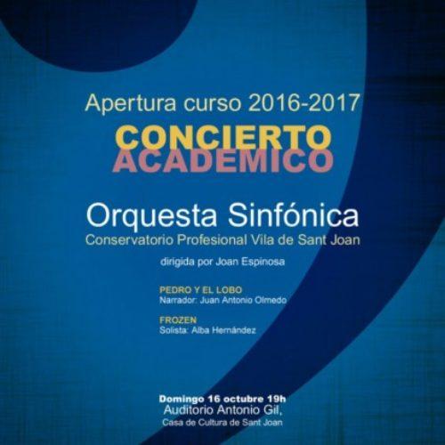 La sinfónica del conservatorio abre el curso académico.
