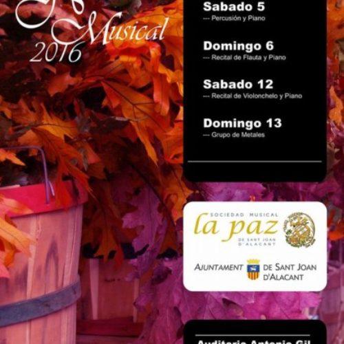 Pel novembre, llaura i sembra. XVII Ciclo de Conciertos de Música de Cámara.