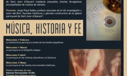 Historia de la parroquia de Sant Joan con música en directo.