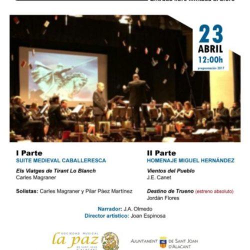 Tirant lo Blanch y Miguel Hernández, protagonistas del concierto del libro.
