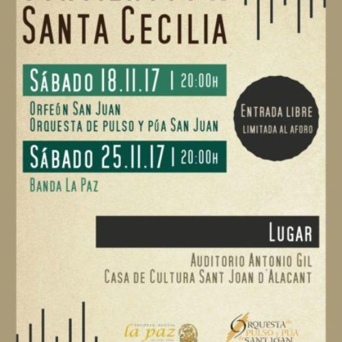 Conciertos de Santa Cecilia, patrona de la música.