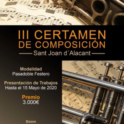 "Fernando Campos Valdés gana el III Certamen de Composición Musical ""Sant Joan d'Alacant"""