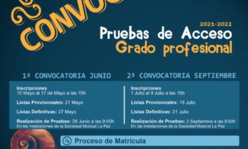 Convocatoria Grado Profesional